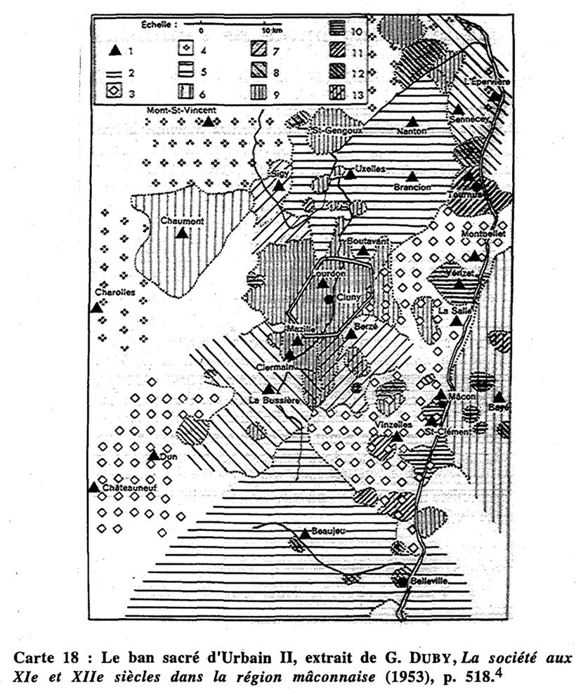 Georges Duby, La société au XIe et XIIe siècles dans la région mâconnaise, 1953, p. 518